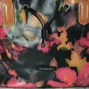 Cavalcanti Italian Leather floral  Large Bag